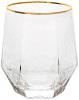 Набор 6 стаканов Monaco Ice 400мл, стекло с золотым кантом
