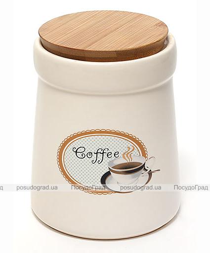 Банка Country Kitchen COFFEE 900мл с бамбуковой крышкой