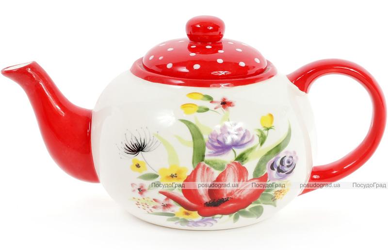 """Чайник заварочный """"Акварель"""" 1250мл, керамический"""