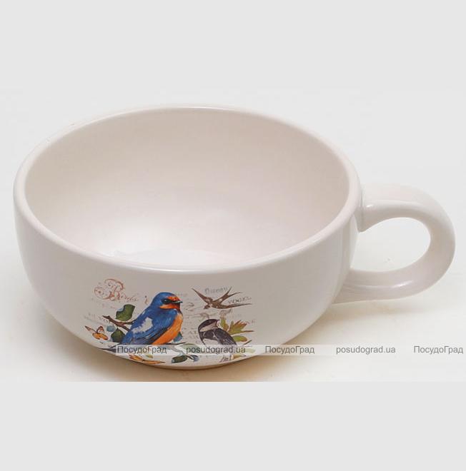 """Пиала-супница """"Birds Garden"""" 450мл с ручкой"""