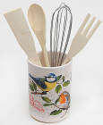 """Подставка-стакан для кухонных инструментов """"Birds Garden"""" 5 предметов"""
