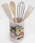 """Підставка-стакан для кухонних інструментів """"Birds Garden"""" 5 предметів"""