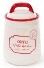 Банка керамическая Red&Blue COFFEE 800мл, красная
