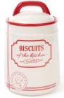 Банка керамічна Red&Blue BISCUITS 1250мл, для печива, червона