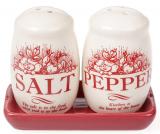 """Набор спецовников """"Английский Шиповник"""" соль и перец на керамической подставке"""