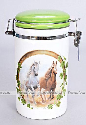 """Банка """"Две Лошади"""" 350мл для сыпучих продуктов с металлической затяжкой"""