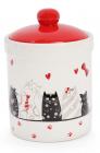 """Банка керамическая """"I Love My Cat"""" 650мл для сыпучих продуктов"""