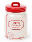 Банка керамическая Red&Blue COFFEE 900мл, красная