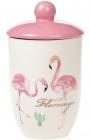 """Банка керамическая """"Розовый Фламинго"""" 800мл с крышкой"""