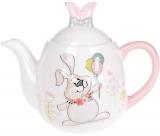 """Чайник заварювальний """"Веселий кролик"""" 1000мл керамічний"""
