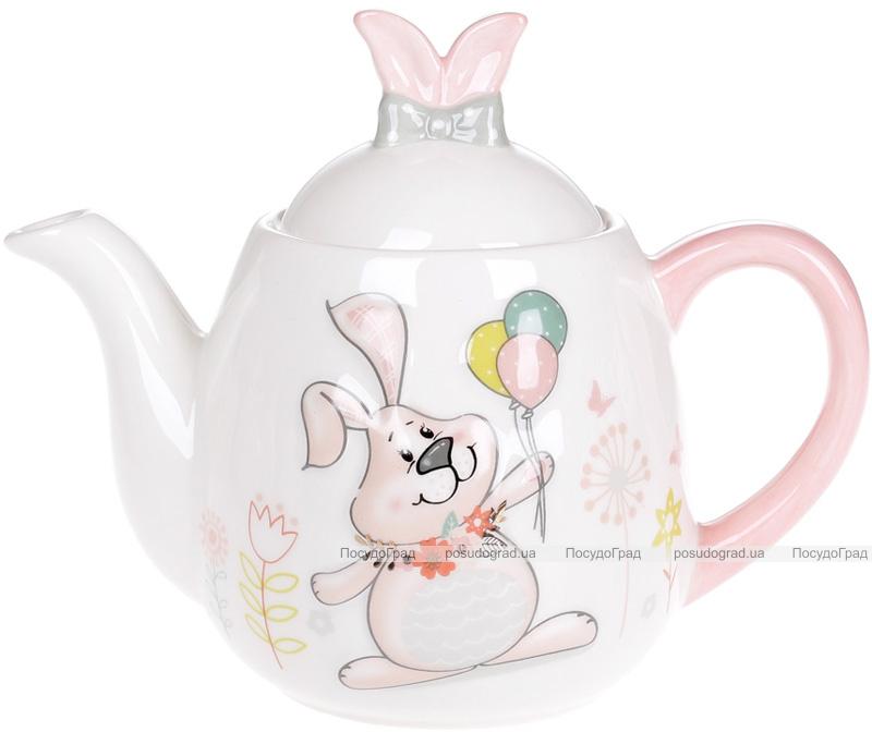 """Чайник заварочный """"Веселый кролик"""" 1000мл керамический"""