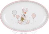 "Блюдо керамічне ""Веселий кролик"" овальне 29х18.5см"