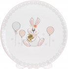"""Тарелка керамическая """"Веселый кролик"""" с золотым яйцом Ø17см"""