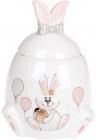 """Банка керамічна """"Веселий кролик"""" 450мл з об'ємним малюнком"""