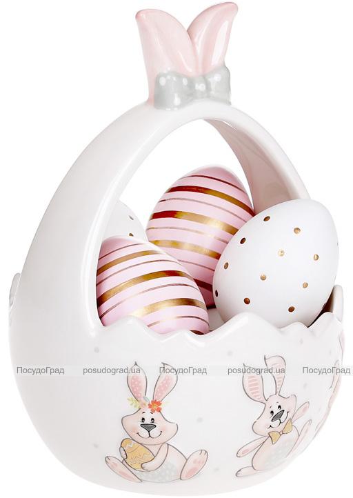 """Цукерниця керамічна """"Веселий кролик"""" 12.3х12.3х17.5см"""