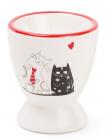 """Подставка для яйца """"I Love My Cat"""" 5.5x6.5см, керамическая"""