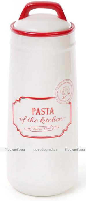 Банка керамическая Red&Blue PASTA 1400мл, красная для хранения спагетти, пасты