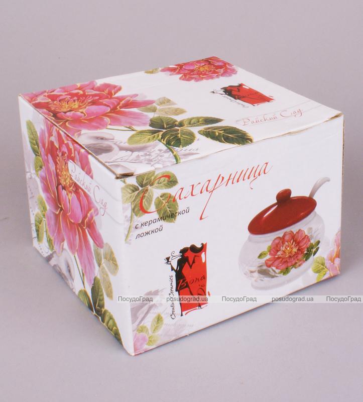 """Сахарница """"Райский сад"""" 450мл с керамической ложечкой"""