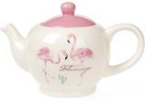 """Чайник заварочный """"Розовый Фламинго"""" 900мл, керамический"""
