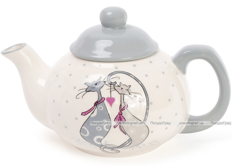 """Чайник заварювальний """"Закохані коти"""" 790мл, керамічний"""