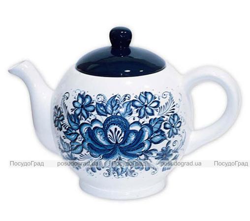 """Чайник заварочный """"Синий Цветок"""" 680мл"""