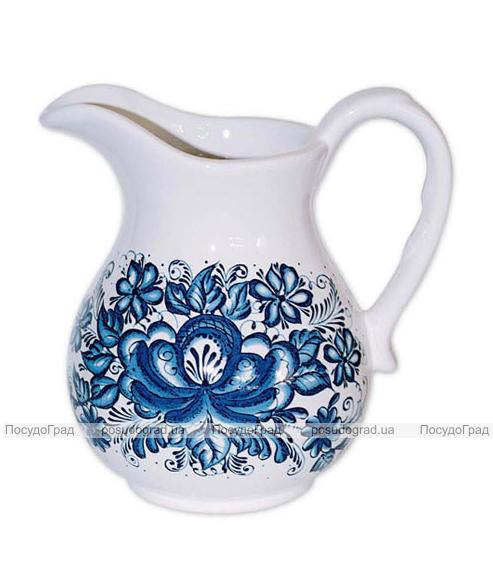 """Кувшин """"Синий Цветок"""" 750мл"""