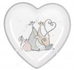 """Блюдо керамічне """"Дружна Сімейка"""" Серце 20.2х20.2х3см"""