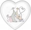 """Блюдо керамічне """"Дружна Сімейка"""" Серце 25х25х3.5см"""