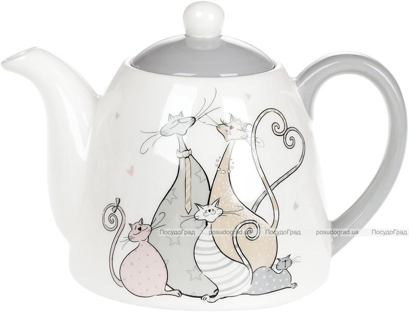 """Чайник заварювальний """"Дружна Сімейка"""" 850мл, керамічний"""