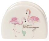 """Подставка для салфеток """"Розовый Фламинго"""" 10х7.2см (салфетница)"""