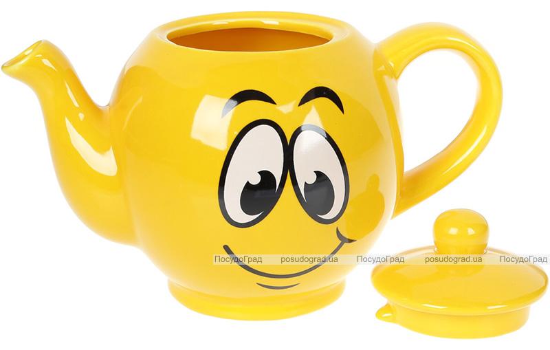 """Чайник заварочный """"Funny Smile"""" 1л керамический"""