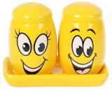 """Набір для спецій """"Funny Smile"""" сільничка і перечниця на підставці, 12.1х7х8.4см"""