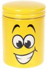 """Банка керамічна """"Funny Smile"""" 650мл, кришка з ущільнювачем"""