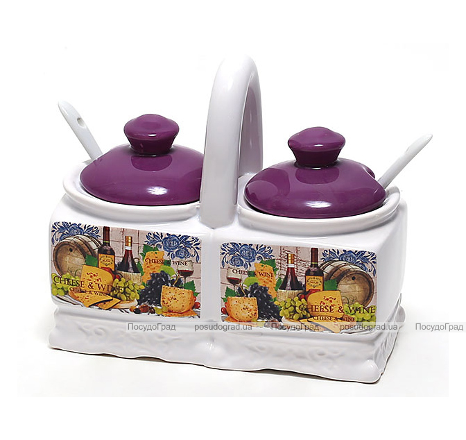 Двойная банка Cheese&Wine 200мл с ложками для специй