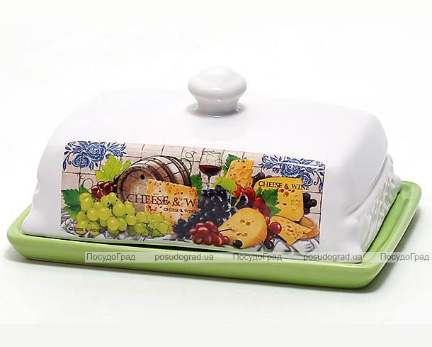 Масленка Cheese&Wine 18.2x12.8x9.5см