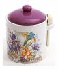"""Банка для сыпучих продуктов """"Iris Flower"""" 640мл с деревянной ложкой"""