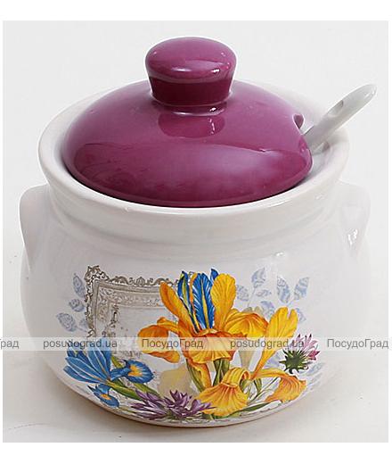 """Банка """"Iris Flower"""" 350мл с керамической ложкой"""