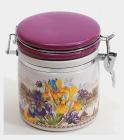"""Банка круглая """"Iris Flower"""" 14.2x10.5x12.2см с крышкой на металлической затяжке"""