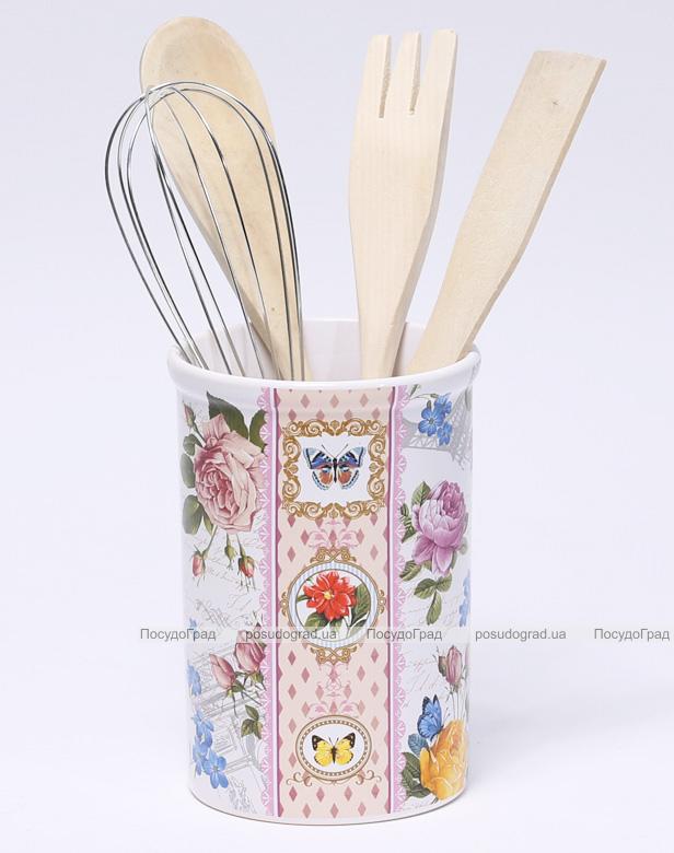 """Подставка-стакан """"Лето в Европе"""" для кухонных инструментов 5 предметов"""