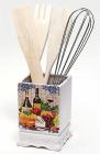 Підставка Cheese&Wine для кухонного приладдя + дерев'яні лопатки і вінчик