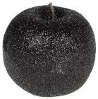 Набор 4 подвески «Яблоко» 6.5см черный с глиттером, пенопласт