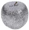 Набір 4 підвіски «Яблуко» 7см графітовий з глітером, пінопласт