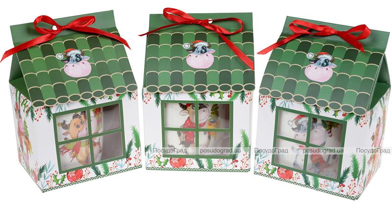 Кружка фарфоровая «Новогодняя Коровка» 350мл, в подарочной коробке