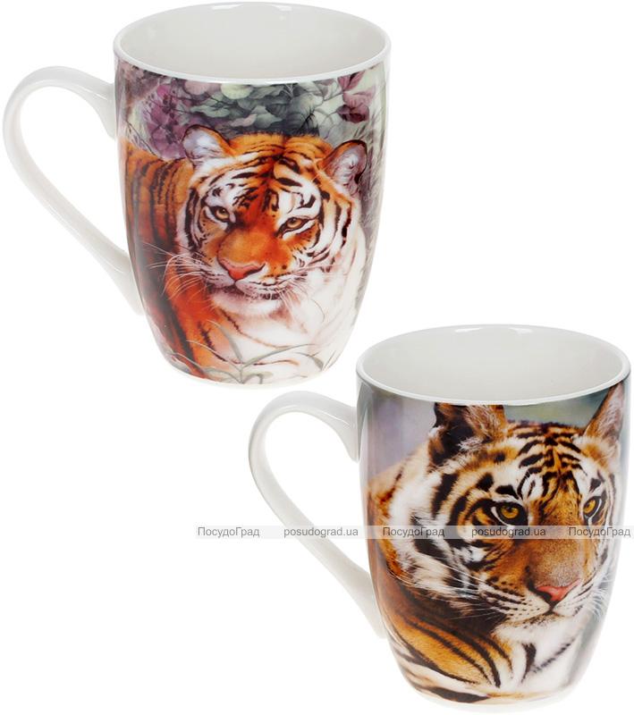 """Кружка порцелянова """"Тигр"""" 380мл, кольоровий, 2 дизайни"""
