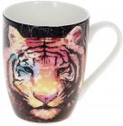 """Кружка порцелянова """"Тигр"""" 380мл, чорний"""
