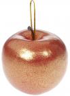Набір 6 підвісок «Яблуко» 6.5см червоне золото, пінопласт