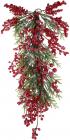 Декор подвесной «Хвойная ветвь» Ягоды во льду, 66см