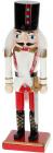 Статуетка декоративна «Лускунчик» 20см, дерев'яна, червоний з білим