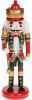 Статуетка декоративна «Лускунчик» 20см, дерев'яна, червоний з зеленим