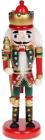 Статуэтка декоративная «Щелкунчик» 20см, деревянная, красный с зеленым